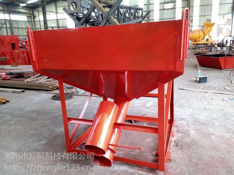 江苏扬中郑科600-1000型侧出料口灰浆料斗卸料精准