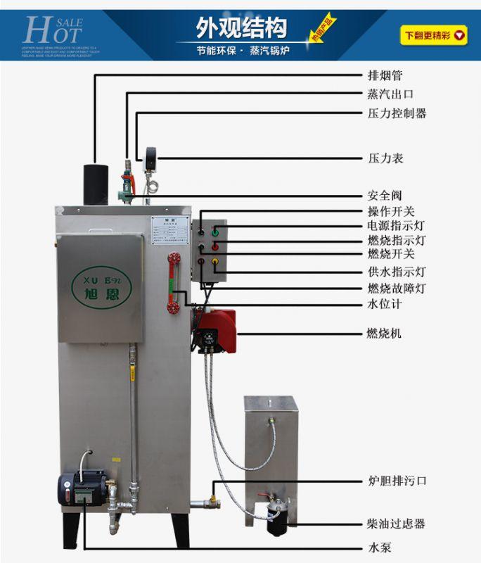 旭恩室燃炉70KG柴油蒸汽发生器***新促销价格