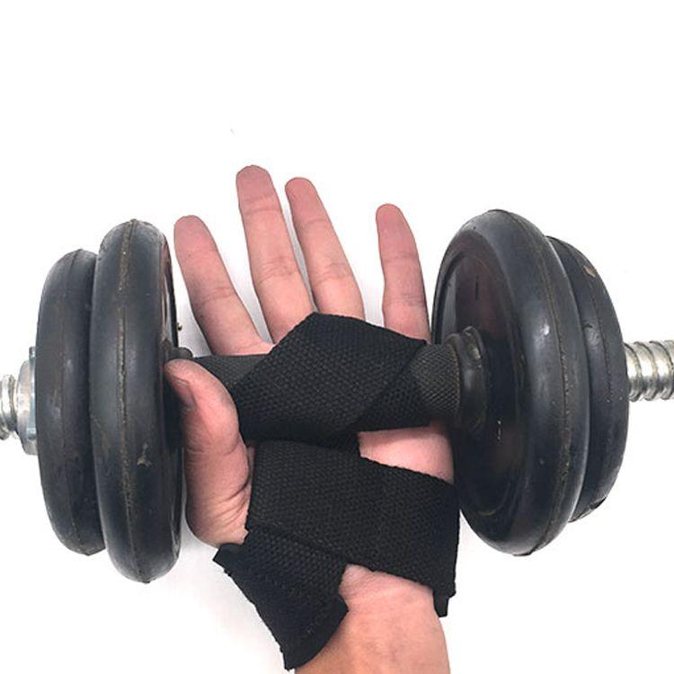 涤纶松紧举重杠铃加压防护助力带 绑带护腕防止手滑 加大摩擦力 护腕 运动护具厂家