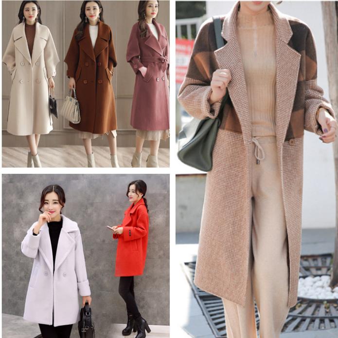 便宜毛呢大衣女士呢子外套库存尾货呢子大衣便宜清仓厂家直批低价清