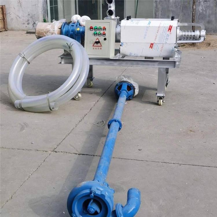 牛粪固液分离机 饲养场粪污脱水机 沼气池固液分离机