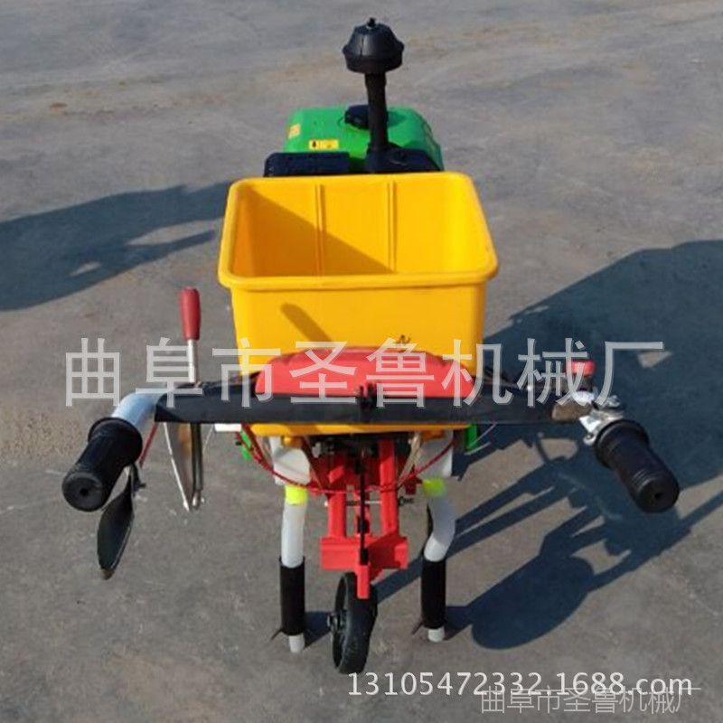 自走式追肥机 汽油播种机 圣鲁玉米施肥播种机