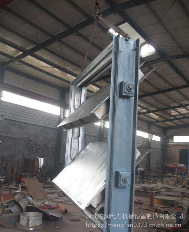 供应 耐高温 水泥烟道脱硫挡板门 双层密封挡板门 柏润