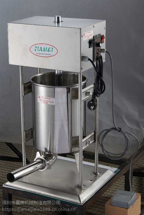 厂家直供嘉美牌12L电动立式不锈钢灌肠机