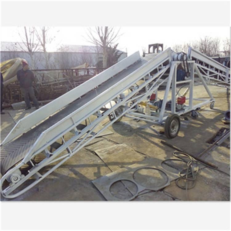 多用途 DJ型大倾度角皮带输送机 防滑皮带传输机 X2