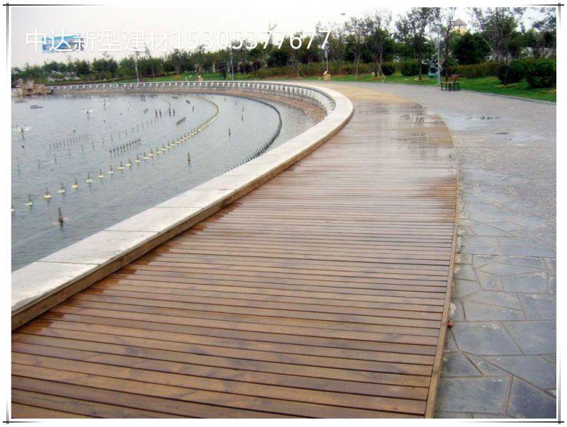 水泥仿木塑户外地板 安装公园户外铺地板