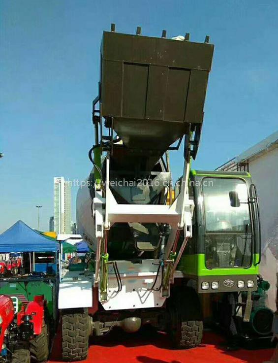石河子1.2方小型自动上料混凝土搅拌车价格 自动加注黄油 便捷易操作