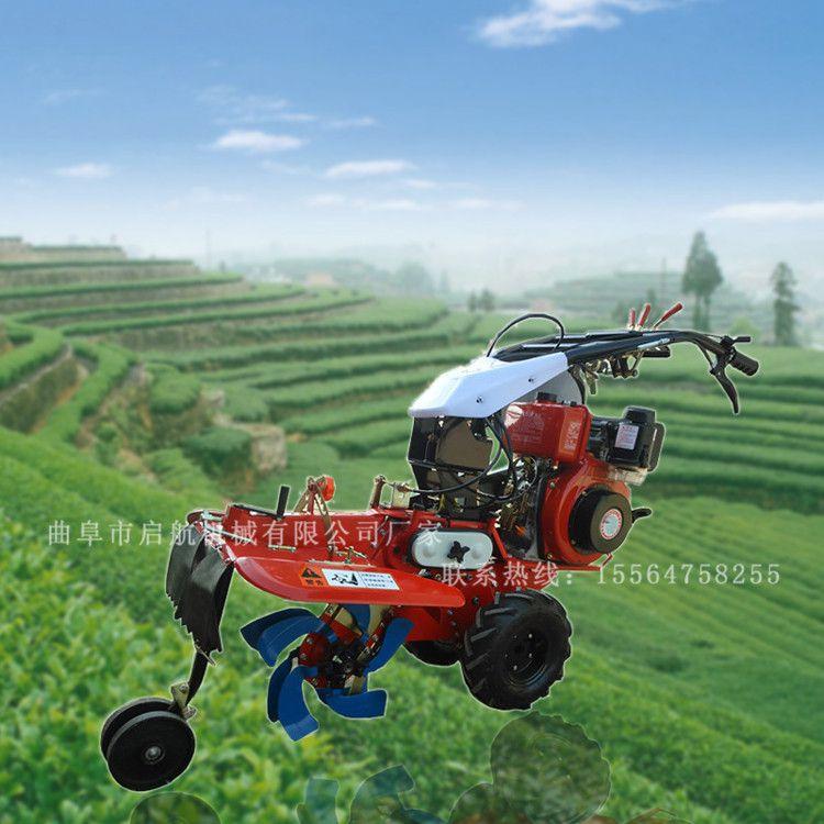 柑橘园专用除草松土机 启航柴油手扶开沟机 大马力土豆起垄机哪里有卖