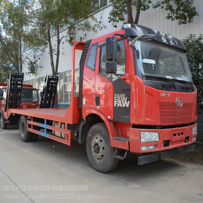 批发发供应4.0L解放J6单桥的挖机拖车平板运输车CA1160P62K1L2E5Z