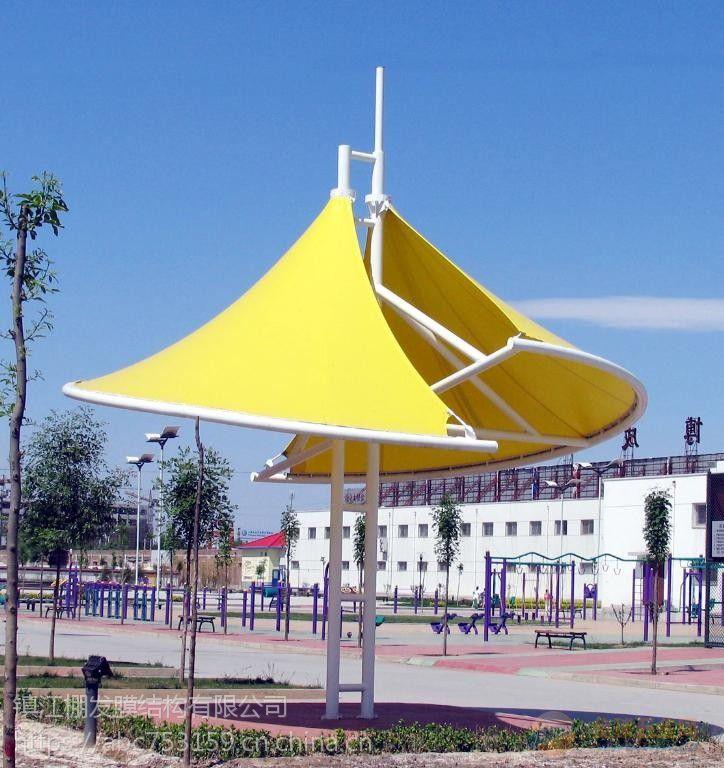 定制安装伞形膜结构户外膜结构景观小品 PVDF张拉膜景观膜伞