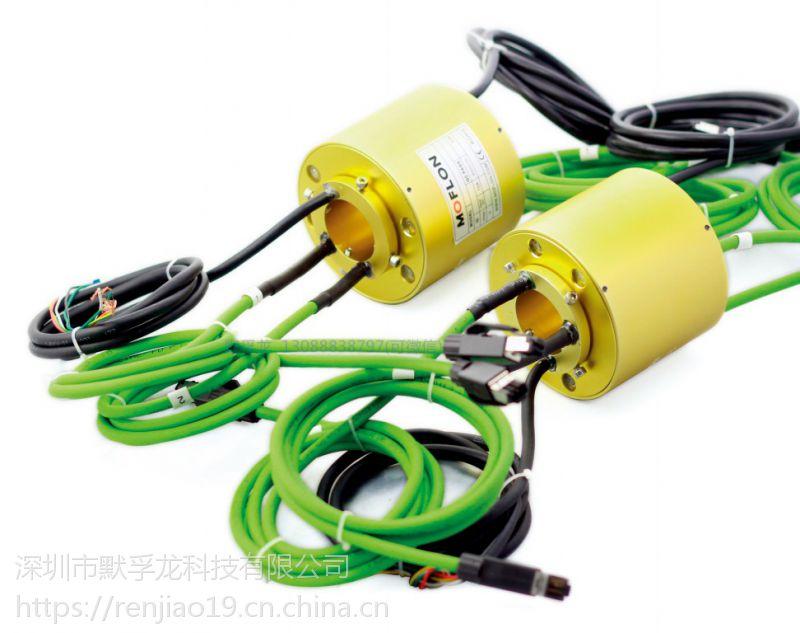 法兰型导电滑环于伺服电机编码器,抗干扰导电滑环,可定制
