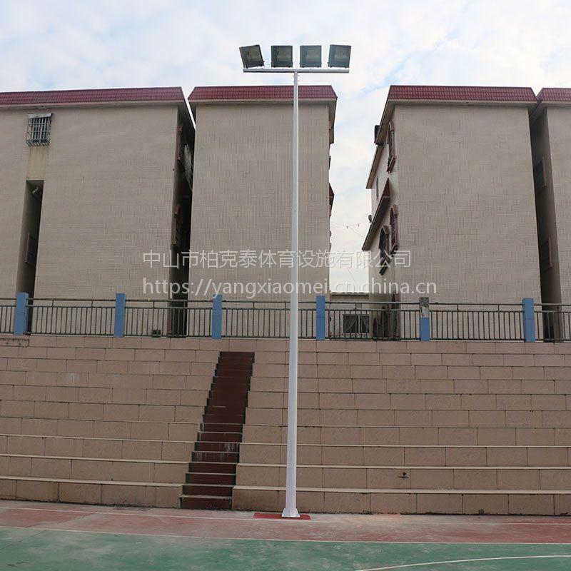 贵州足球场锥形灯杆配400W灯 体育场照明灯杆设计 柏克高杆灯报价