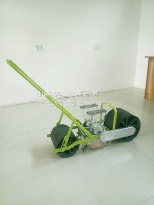 手推菜籽精播机 四轮苜蓿谷物蔬菜播种机