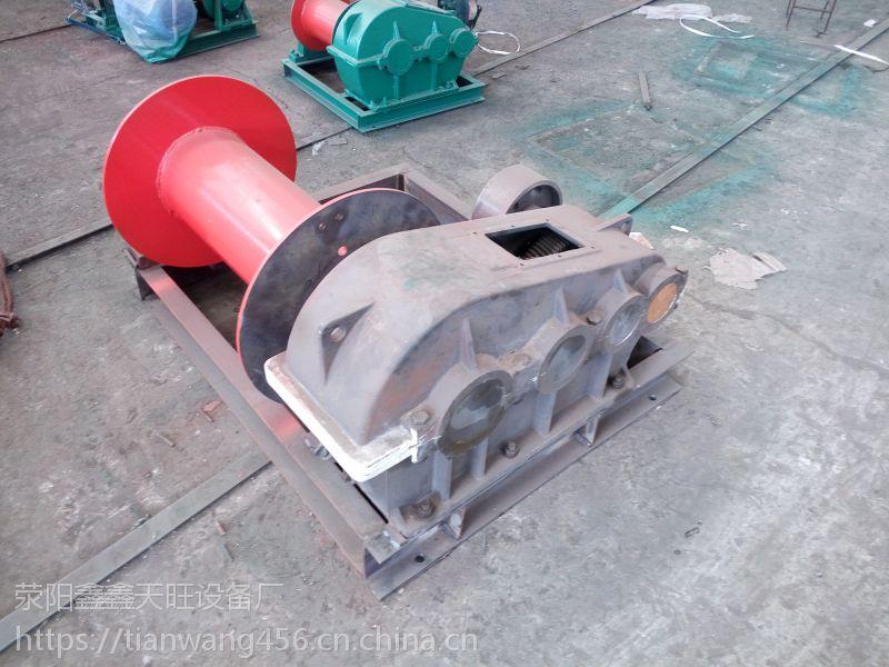 湖南湘乡天旺三吨中型单制动水利工程用自动卷扬机