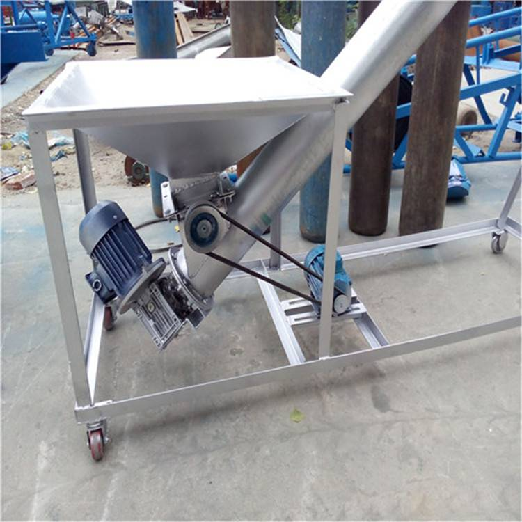 供应 包头 螺旋输送机 移动式提升机 粘料用不锈钢螺旋输送机 六九重工