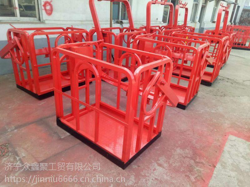 低价出售 1米--1.5米 8吨--50吨吊车专用 吊车专用施工吊篮 高空作业施工平台