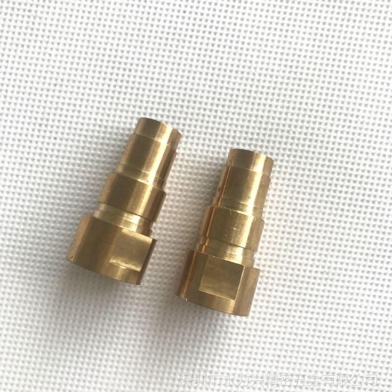 深圳精密五金加工厂 高品质黄铜H59-1凸槽柱 各类机械工业用紧固