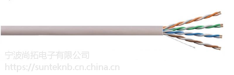 UTP CAT5E 4对 24AWG单股 非屏蔽 PVC外护套 网络线数据线网线 305米/易拉箱