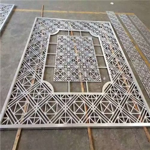 广东大堂门面镂空雕刻铝单板定制厂家