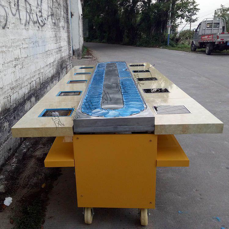 小型回转寿司设备厂家直销价格、青岛回转小火锅设备价格工厂直销价格