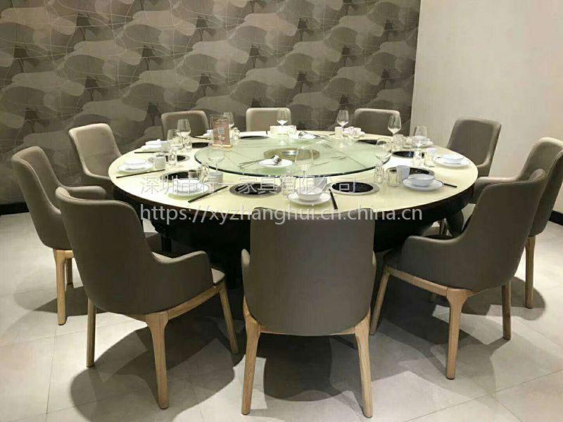 布吉火锅店家具 定制大理石火锅桌 餐厅卡座沙发生产厂家 深圳行一家具