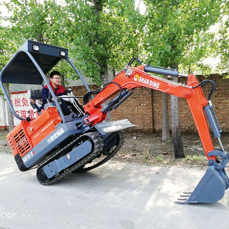 全国各地区旱厕改造用小型挖掘机 代替劳动力的微型挖掘机 果园用山鼎小挖机 小勾机的价格