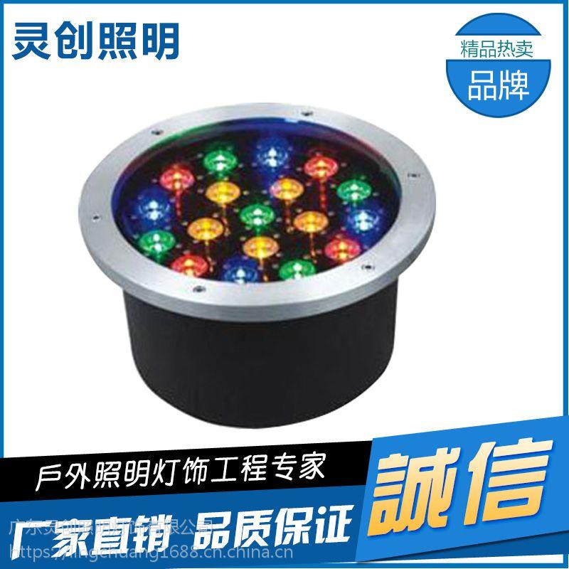 安徽合肥灵创LED地埋灯24W 36W 18W户外不锈钢内控
