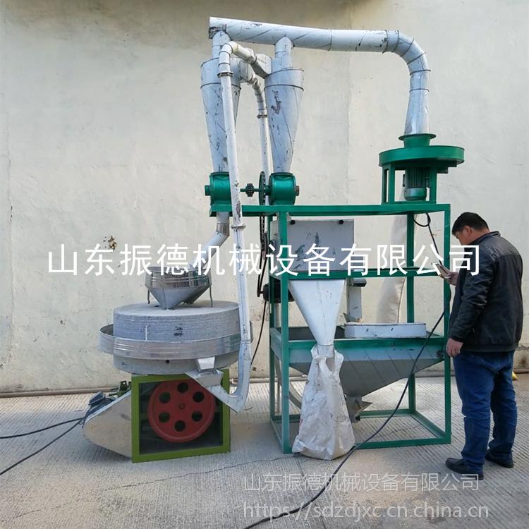 新型燕麦电动石磨机 谷物荞麦面粉机 粮食加工电动石磨机 振德 定制
