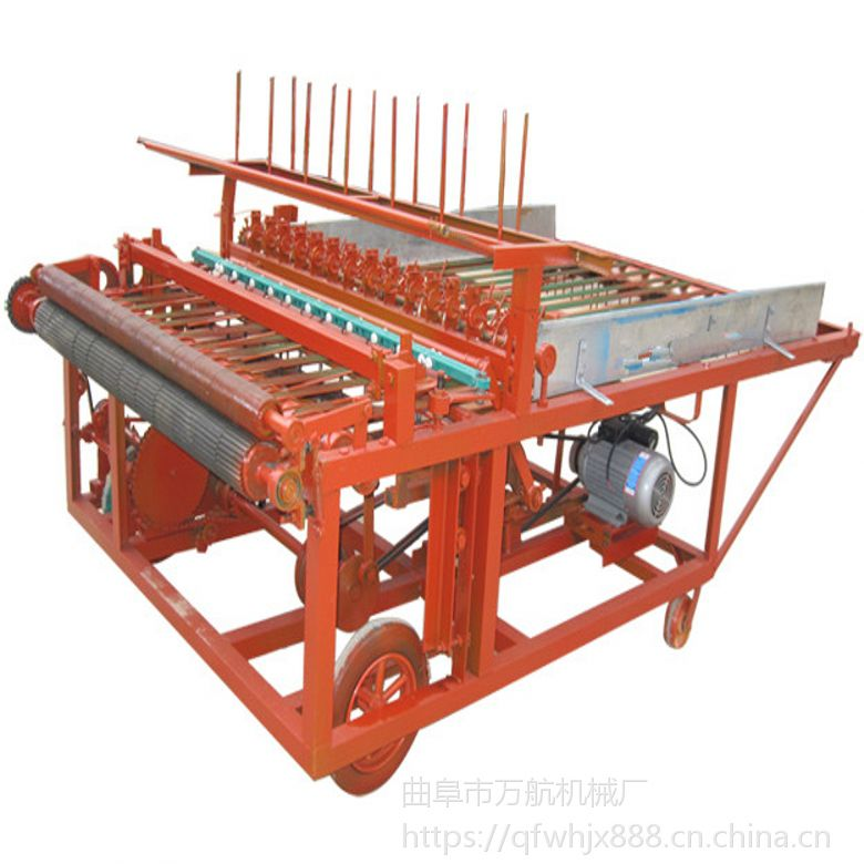 1.2米宽角钢铺草机 芦苇加工机械 草帘机的厂家