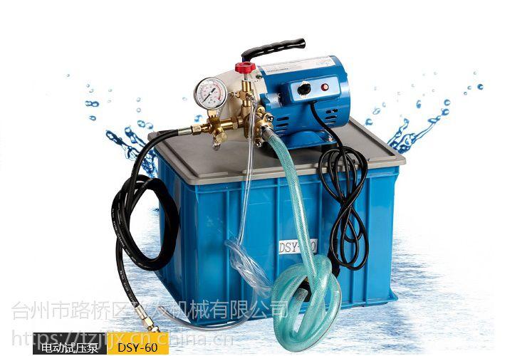 玖发手提式新款蓝色全铜头电动DSY60管道试打压泵测试泵 便携试
