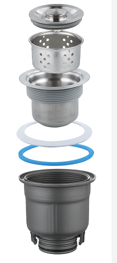 中山欧顺诺厂家直销防臭防堵下水带溢水厨房水槽套装防虫菜盆下水
