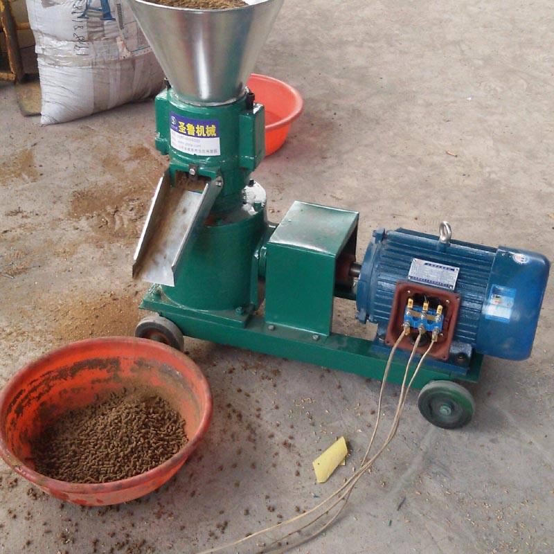 家用小型养殖场专用饲料颗粒机 鱼饵料颗粒饲料机 水产膨化颗粒机