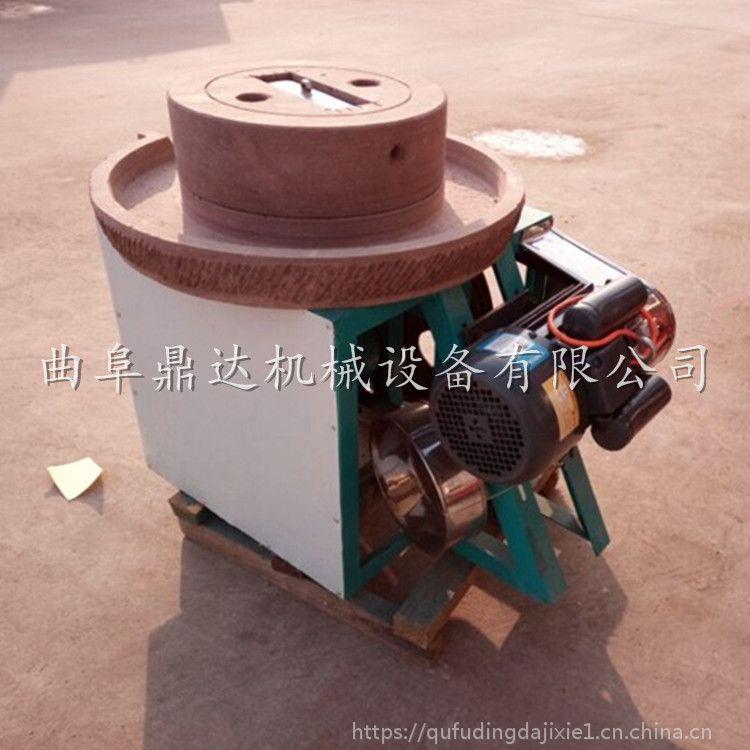 河南商用水磨豆浆石磨机 石磨磨浆现场视频 鼎达牌