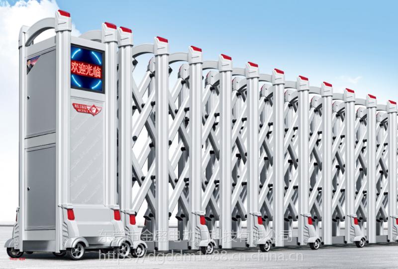 东莞金盛门业电动门金属整套不锈钢铝合金电动伸缩门年末优惠促销
