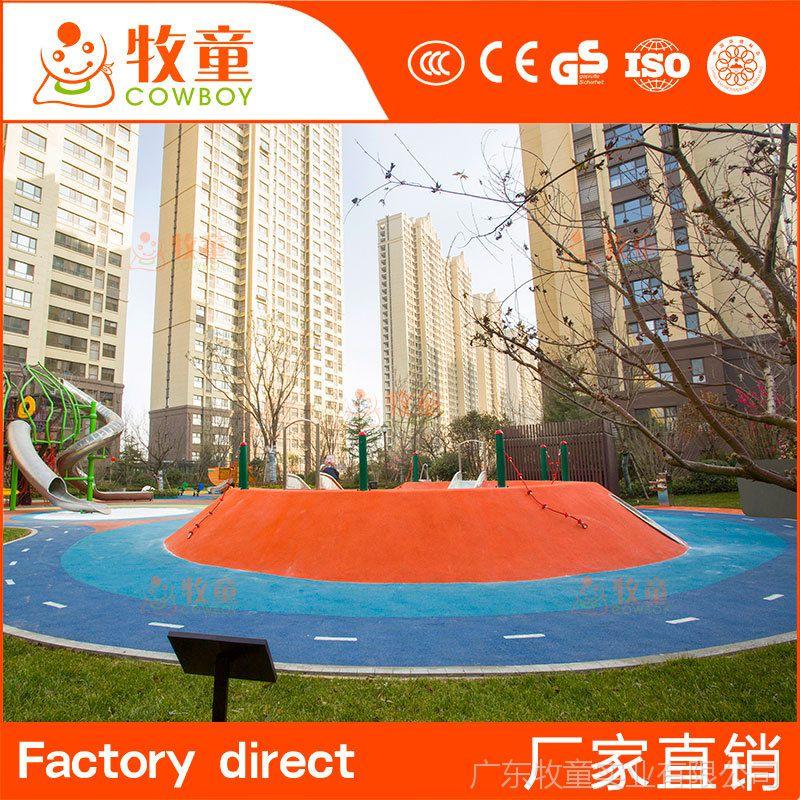 牧童新款儿童娱乐游乐场专用可爱卡通彩绘现浇地垫定制铺设