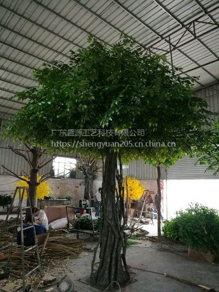 4米仿真榕树 玻璃钢榕树 农家乐假树工厂制作 舞台假树