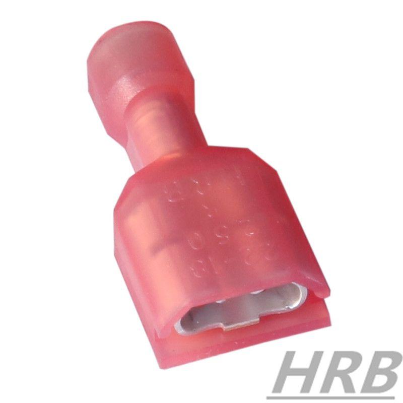 泰科连接器替代 250尼龙冷压端子 全绝缘护套母端批发