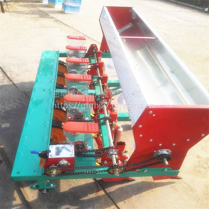 四行蔬菜谷子手推播种机 大白菜精量施肥播种一体机 谷子精播机