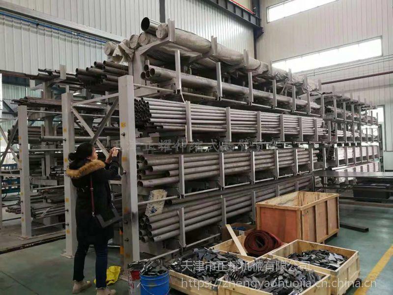 重庆悬臂货架用料 伸缩双悬臂货架工作原理 镀锌管存放方法