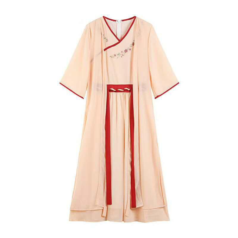 沙井汉服店古装汉服改良版经典两件套汉服厂家直供