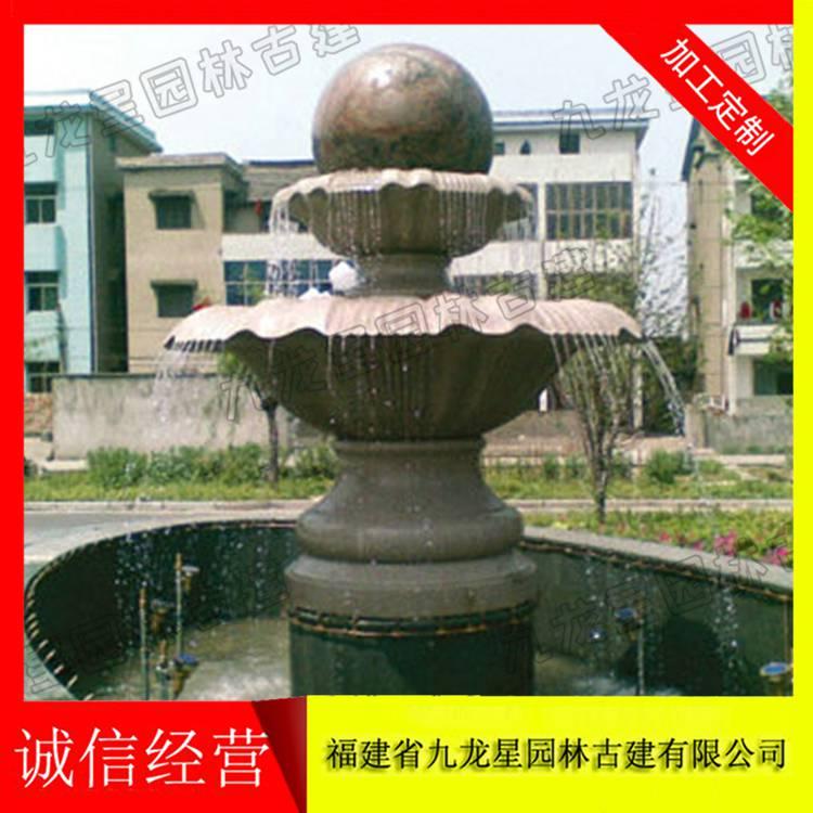 惠安九龙星园林古建现货可定做大理石石雕风水球