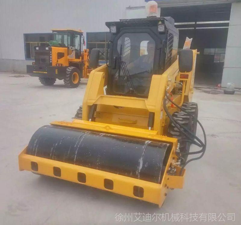 滑移装载机配压路机是一种修路 在工程机械中属于道路设备