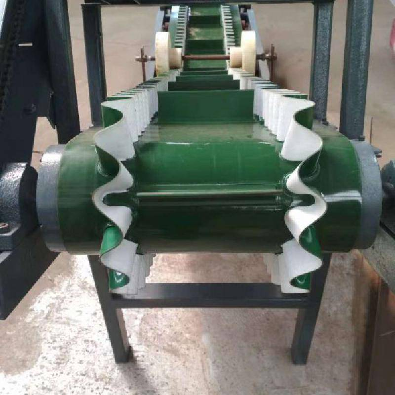 吉林固定式挡边输送机 包胶滚筒草捆输送机