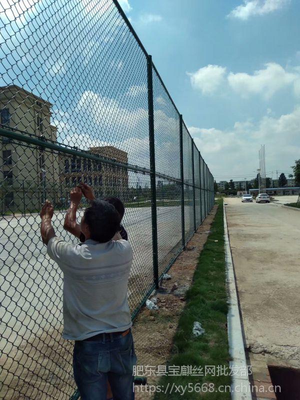 宿州球场围栏网 泗县操场/运动场/体育场勾花护栏网 锌钢围墙网安装