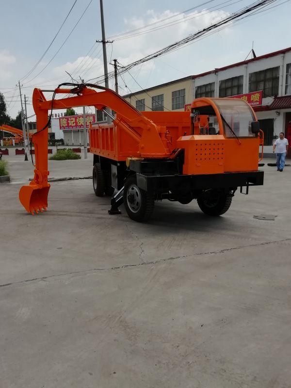 厂家定制四不像随车挖掘机 车载挖土机 金旺促销挖掘装载一体机价格
