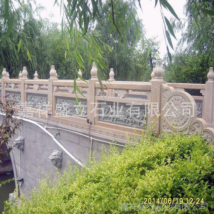 批发河提防护石栏杆 河边水塘石栏杆 专业安装石雕栏杆