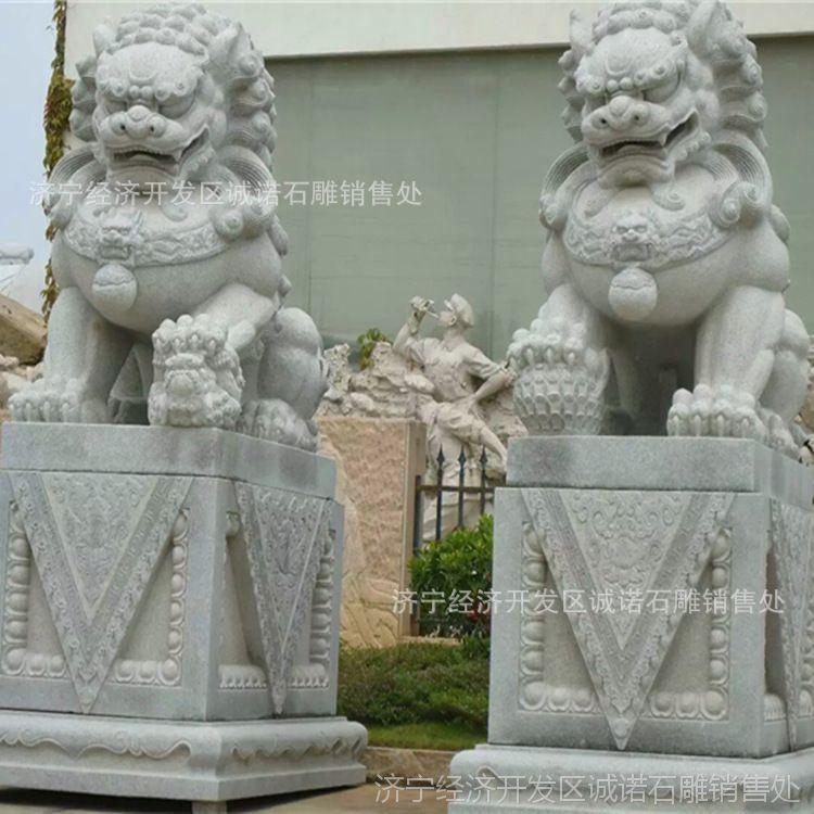 厂家生产 石雕汉白玉石狮子 精雕天安门摆放石狮子一对看门特价