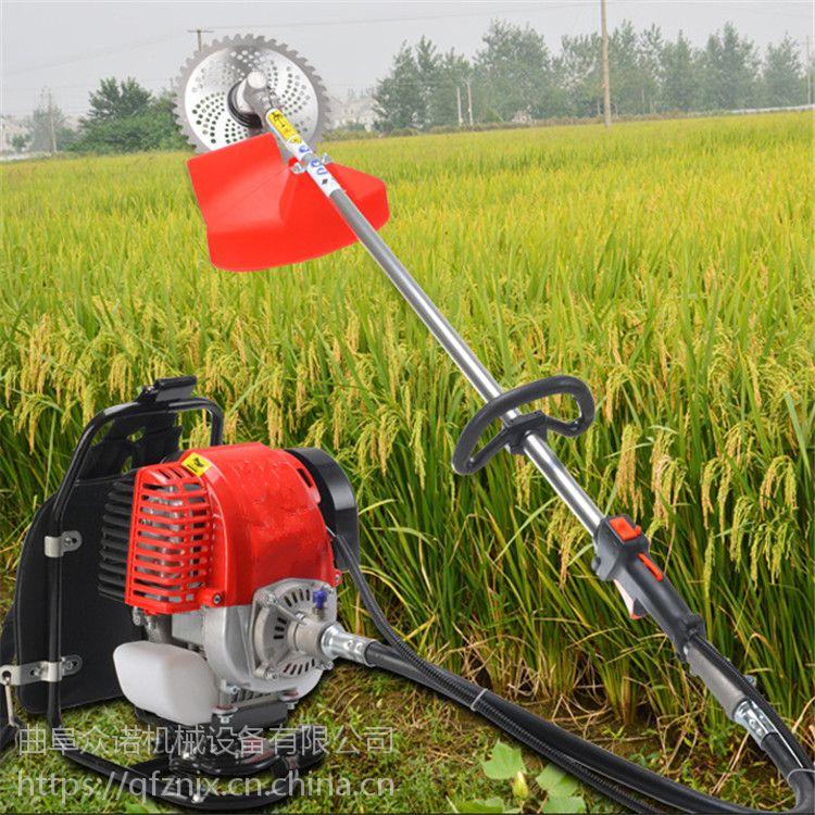 广州GX 35四冲程背负式斜挂汽油割草机 高树枝割灌机