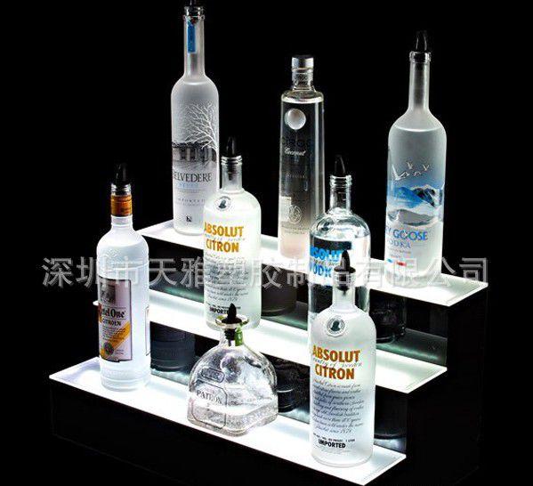 有机玻璃酒水架 定制LED发光酒座