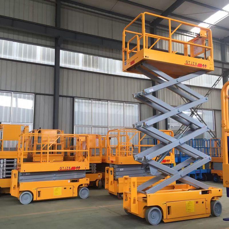 现货定制6米液压轮全自行走高空作业平台|移动剪叉式升降台车|